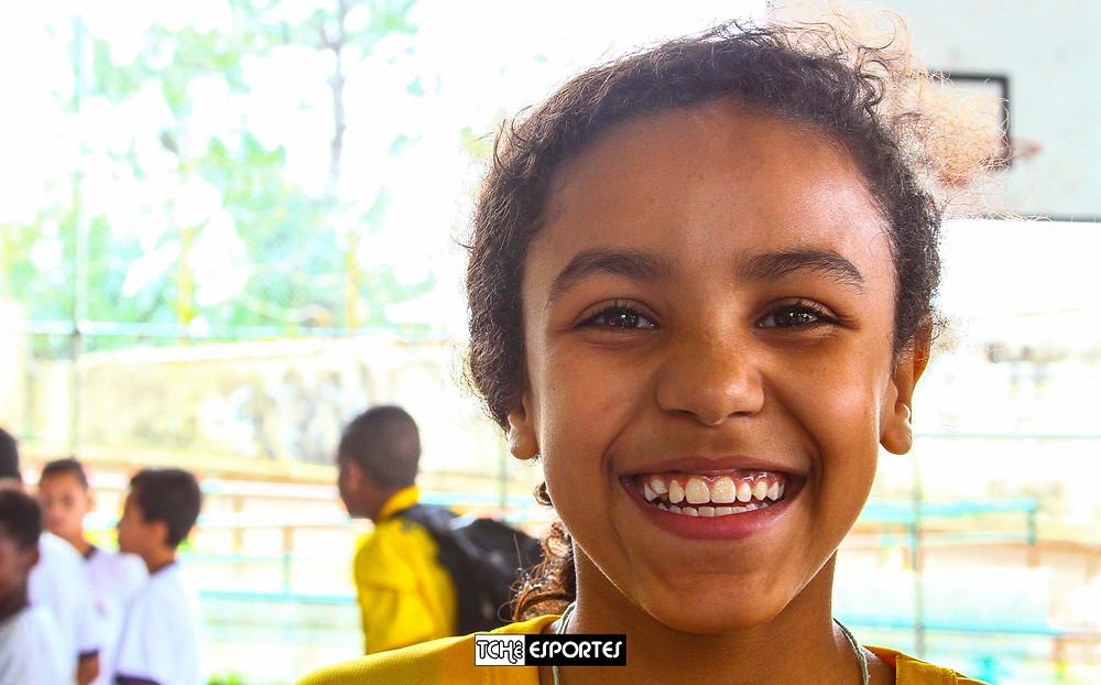 Chiara, 12 anos, quer chegar à seleção. (foto André Pereira / Tchê Esportes)