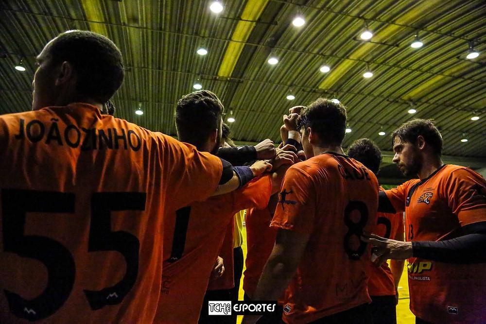 Equipe do São Caetano Masculino. (foto arquivo Tchê Esportes)