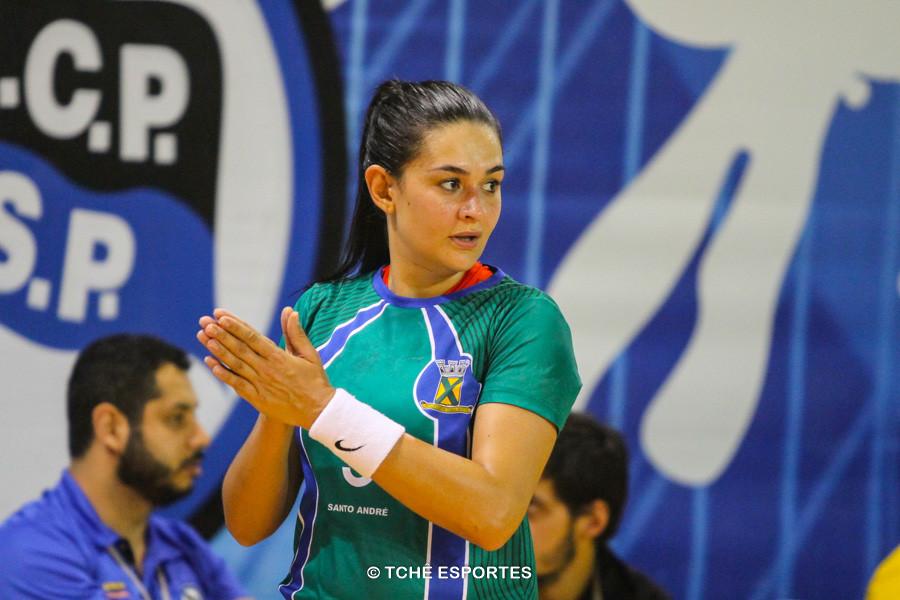 Daniele Giacomazi, artilheira e Destaque do Jogo. (foto André Pereira / Tchê Esportes)