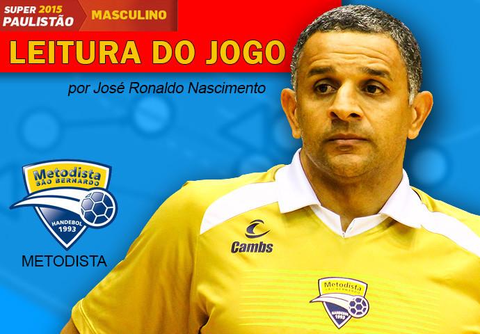 José Ronaldo Nascimento, técnico da Metodista. (arte Tchê Esportes)