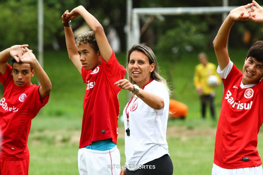 Andreia, preparadora física no Núcleo Inter Norte. (foto André Pereira / Tchê Esportes)