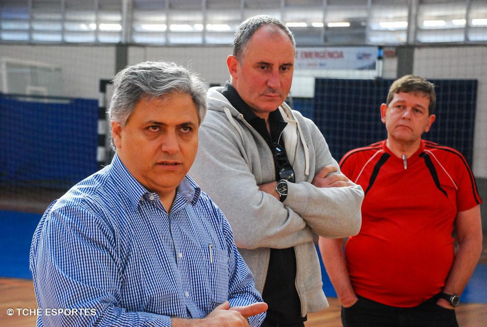 Diretores da FPHb. (foto André Pereira / Tchê Esportes)