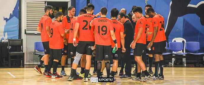 Equipe do São Caetano no último confronto. (foto Andréa Rodrigues / Tchê Esportes)