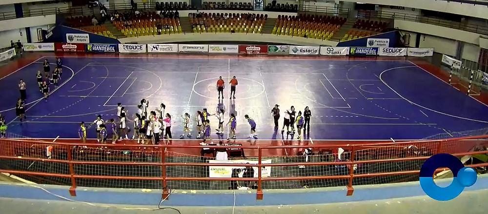 AAA UNB/Handebol (DF) 22 x 17 Tocantins (TO). (foto reprodução EsporteNet)