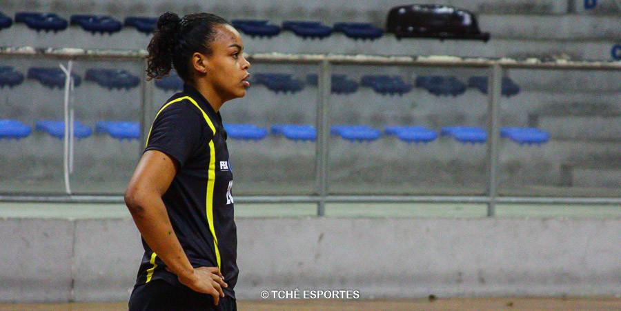 Maytê Lima, goleira de Franca. (foto André Pereira / Tchê Esportes)