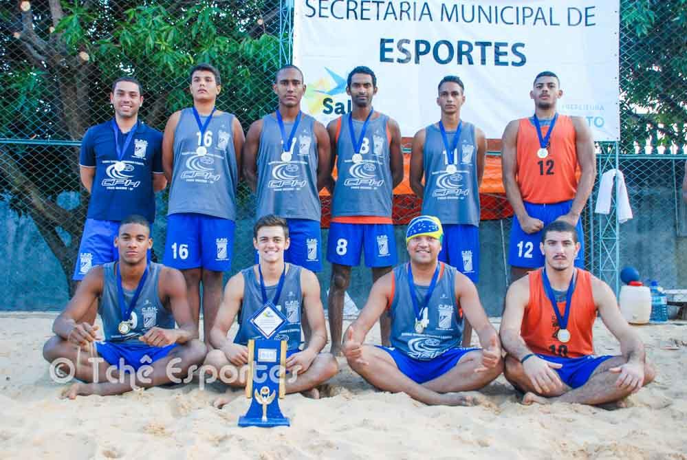 CPH Praia Grande, campeã da 2ª etapa de Beach Hand da LPHb (foto André Pereira / Tchê Esportes)