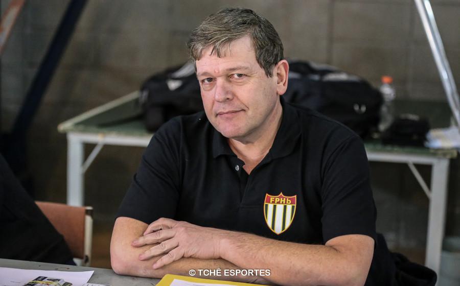 Antonio Ingles, delegado da FPHb. (foto André Pereira / Tchê Esportes)