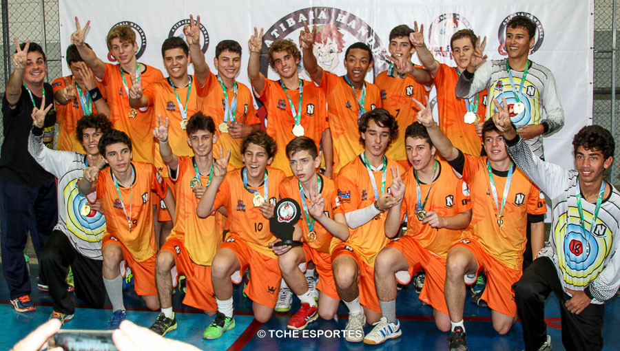 Campeão CADETE / Nacional Handebol Clube. (foto André Pereira / Tchê Esportes)