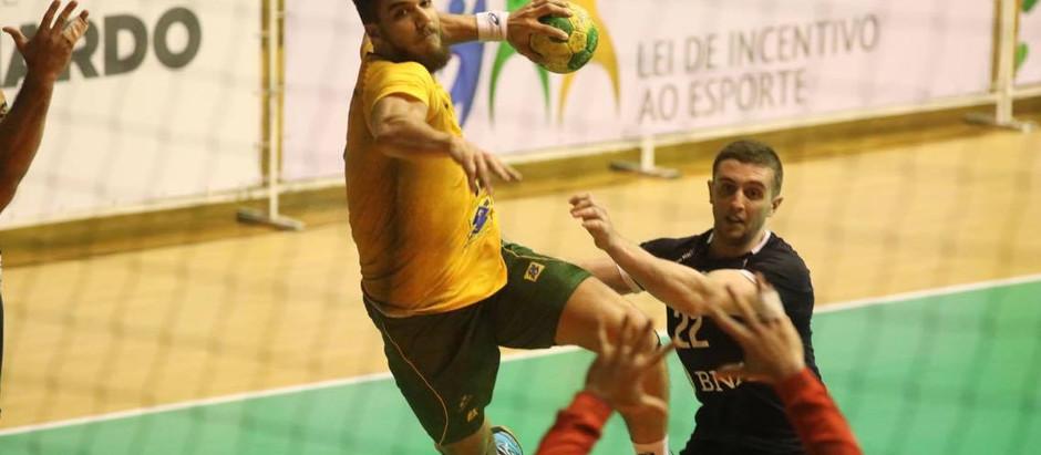 Seleção Masculina de Handebol vence amistoso contra a Argentina em São Bernardo do Campo (SP)