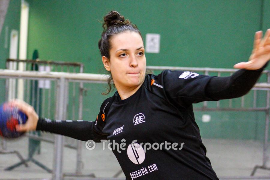 Gabriela Moreschi, goleira do Jundiaí. (foto arquivo Tchê Esportes)