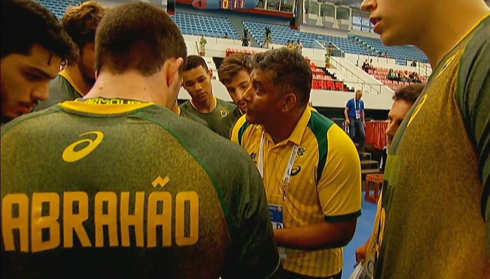 Helinho, técnico da Seleção Brasileira Jr Masculina. (foto reprodução evento)