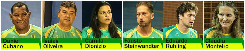 Comissão técnica Seleção Brasileira. (arte Tchê Esportes)
