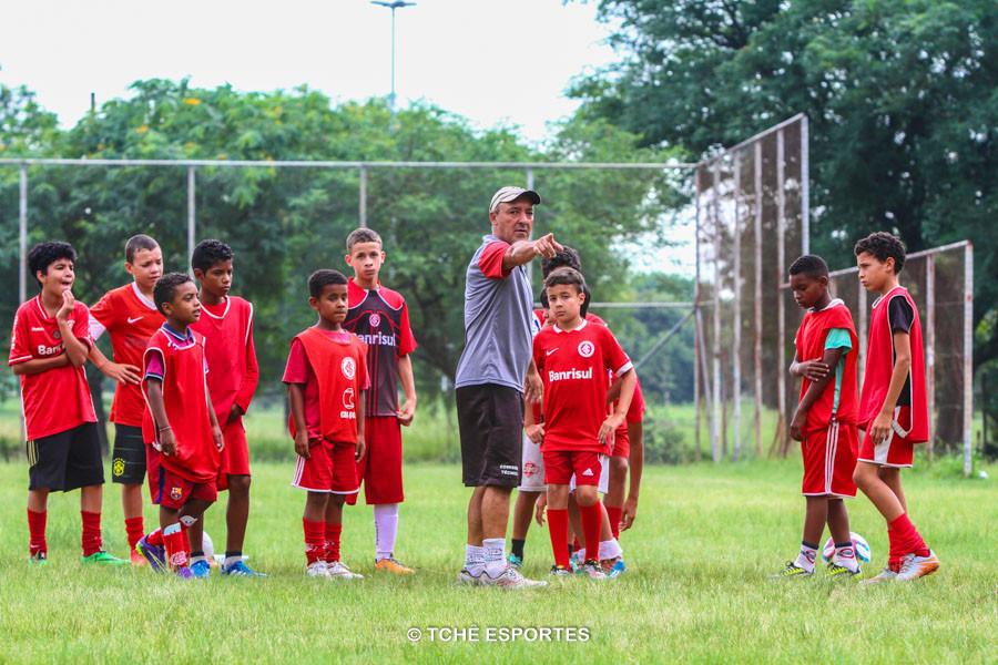 Butiá em treino do Inter Norte. (foto André Pereira / Tchê Esportes)