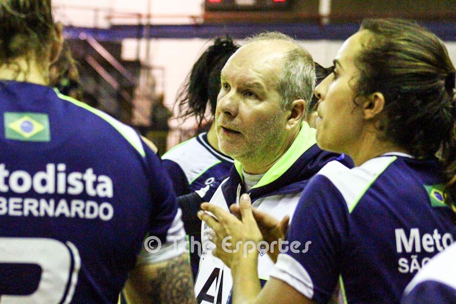 Eduardo Carloni, técnico da Metodista. (foto André Pereira / Tchê Esportes)