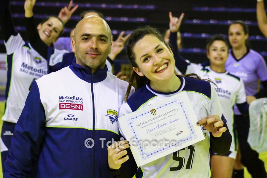 Bruna Gonçalves, Metodista, melhor jogadora da partida. (foto André Pereira / Tchê Esportes)