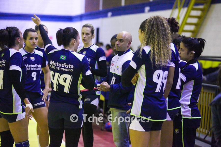 Assistente José Roberto comandou a equipe durante a ausência de Carlone. (foto Tchê Esportes)
