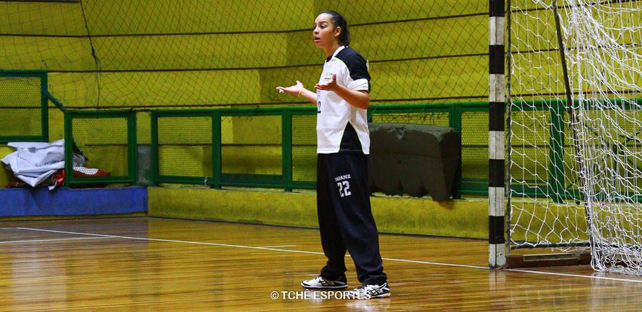 Daiane Faria, goleira do São José. (foto Andréa Rodrigues/ Tchê Esportes)