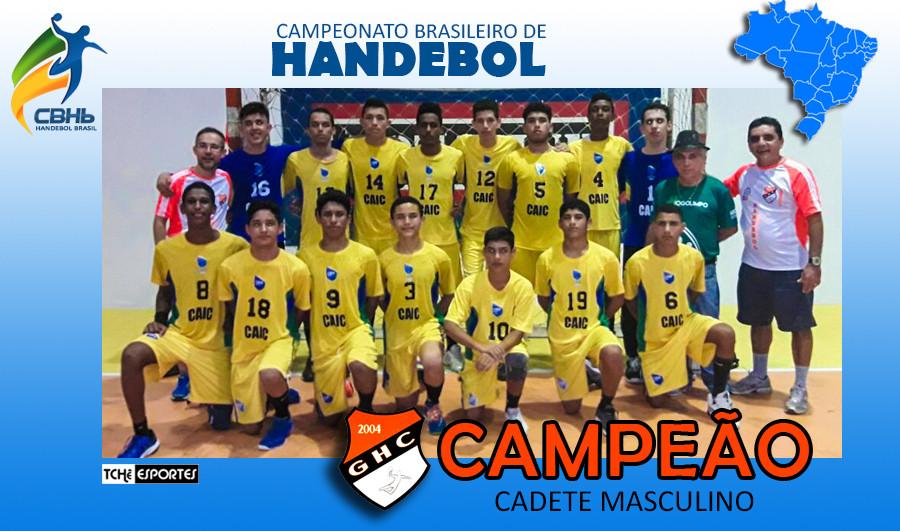 Campeonato Brasileiro de Handebol Cadete Masculino. (arte Tchê Esportes)
