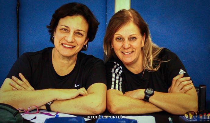 Claudia Bignardi (secretária)  e Silvana Souza (cronometrista). (foto André Pereira / Tchê Esportes)