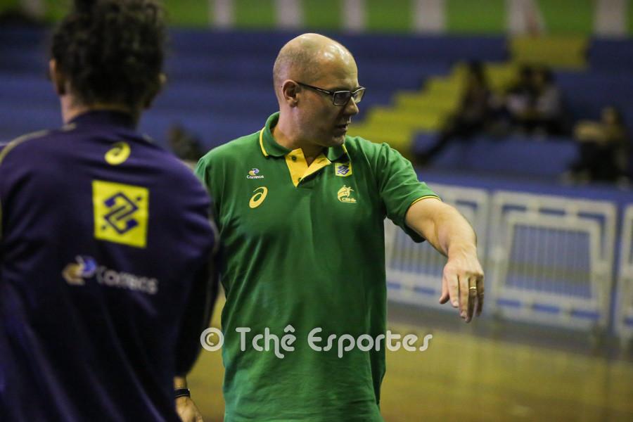 Morten Soubak, técnico da Seleção Brasileira de Handebol Feminino. (foto André Pereira / Tchê Esportes)