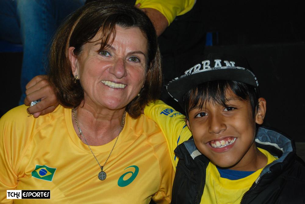 Dona Olivia, mãe da Duda Amorim. (foto Fe Rodrigues / Tchê Esportes)