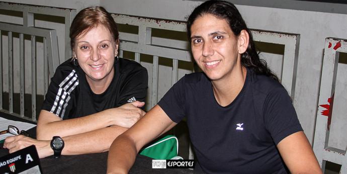Silvana Sousa e Priscila Rivero. (foto André Pereira / Tchê Esportes)