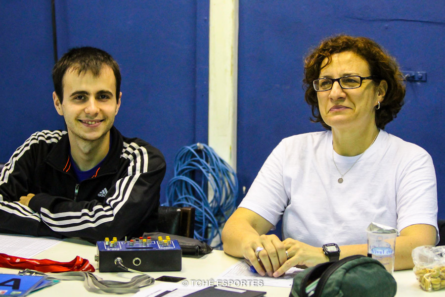 Henrique Godoy e Claudia Bignardi. (foto André Pereira / Tchê Esportes)
