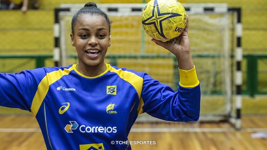 Maitê Dias, destaque do jogo. (foto arquivo Tchê Esportes)