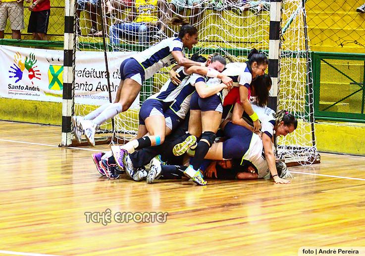 Metodista/São Bernardo comemora o oitavo título em 2014. (arquivo Tchê Esportes)