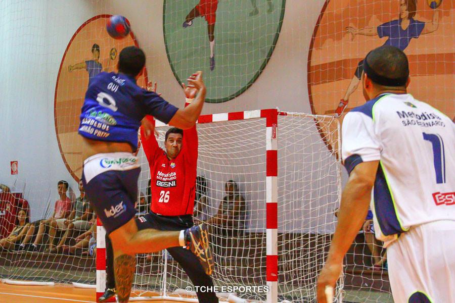 Leandro, goleiro do São Bernardo. (foto André Pereira / Tchê Esportes)