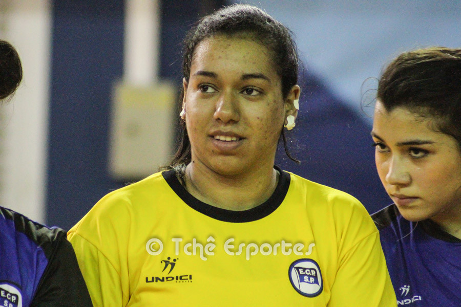 Alice Silva, goleira do EC Pinheiros. (foto arquivo Tchê Esportes)
