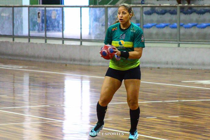 Tamires Costa, do Santos. (foto arquivo Tchê Esportes)