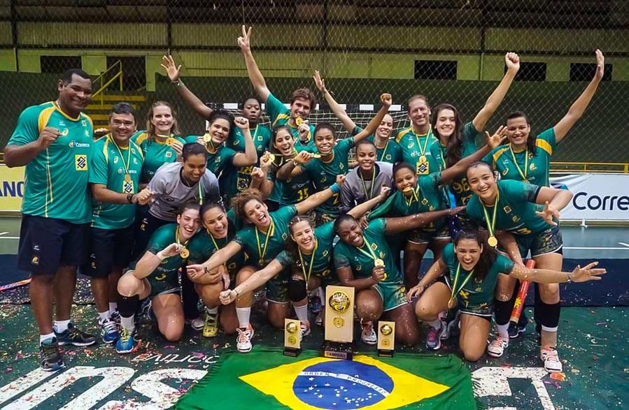 Seleção Junior é Campeã invicta no Pan2016. (foto Divulgação CBHb)