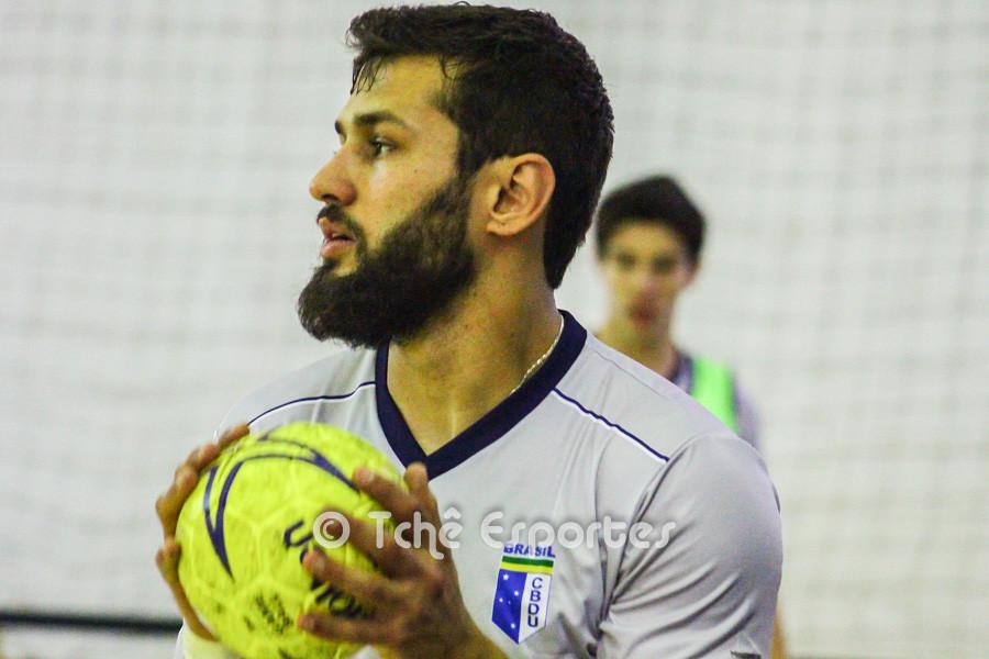 Wesley, artilheiro do Brasil no jogo de hoje. (foto arquivo Tchê Esportes)