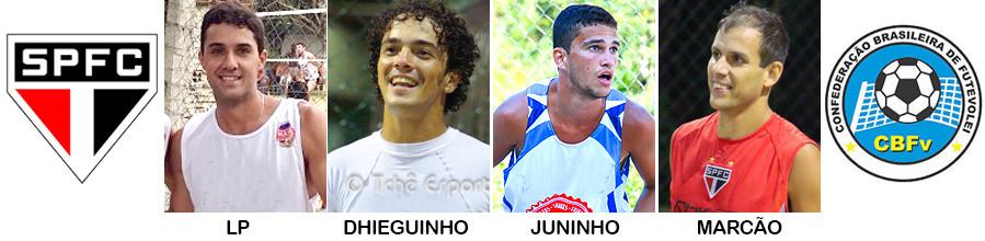 Quarte do SPFC para o Brasileiro 3x3 de Futevôlei (arte Tchê Esportes)