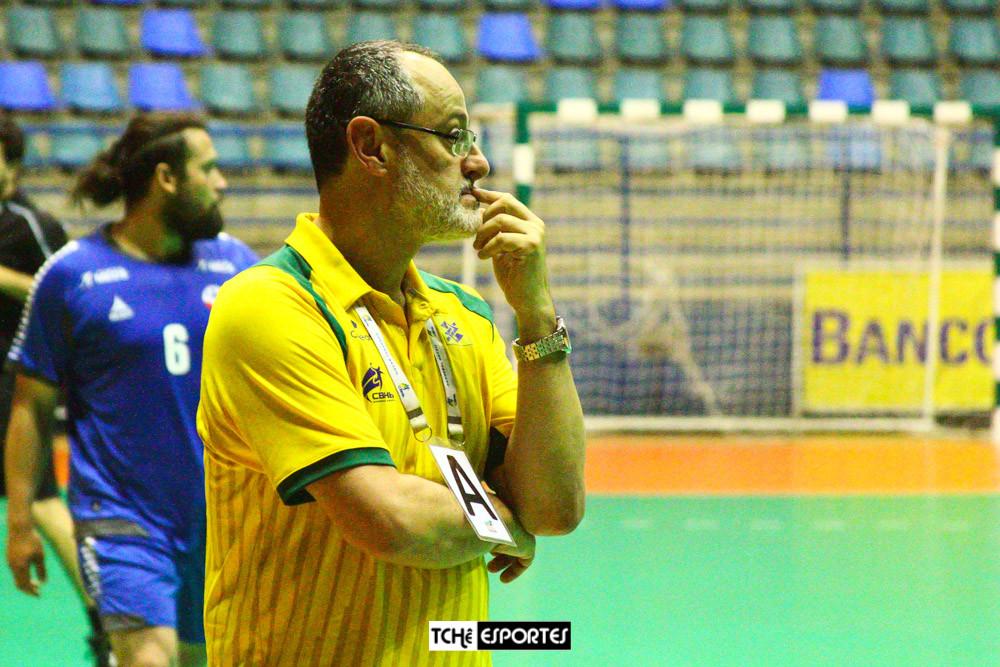 Washington Nunes, técnico da Seleção Brasileira Masculina de Handebol (foto André Pereira / Tchê Esportes)