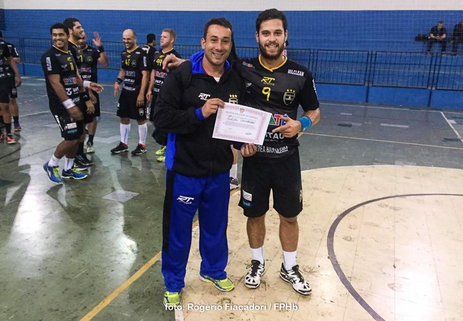 Lucas Cândido, Taubaté, Melhor do Jogo. (foto Rogério Fiacadori / FPHb)