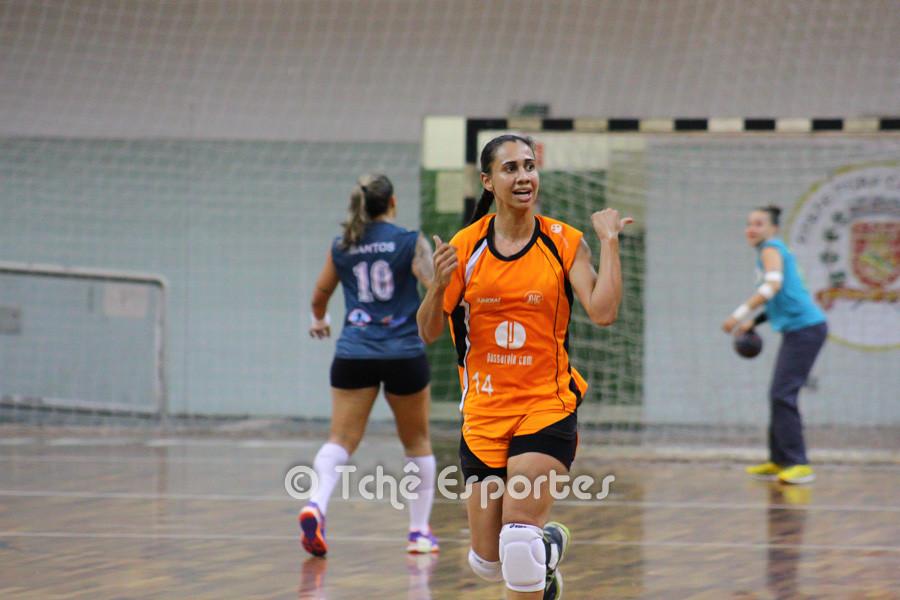 Jaqueline Dias, Jundiaí, artilheira do jogo com 7 gols. (foto André Pereira / Tchê Esportes)
