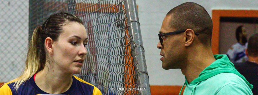 Fernanda Barbosa e Marcão. (foto André Pereira / Tchê Esportes)