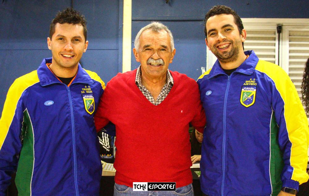 Thiago Marques(árbitro), Lima Rosa(Delegado) e Bruno Azevedo(árbitro)