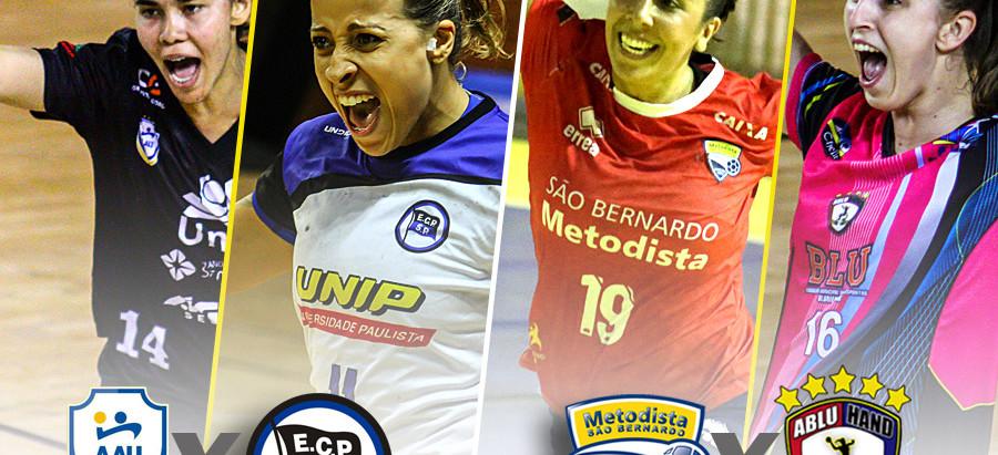 Paulistas e catarinenses em busca do título da Liga Feminina de Handebol 2016