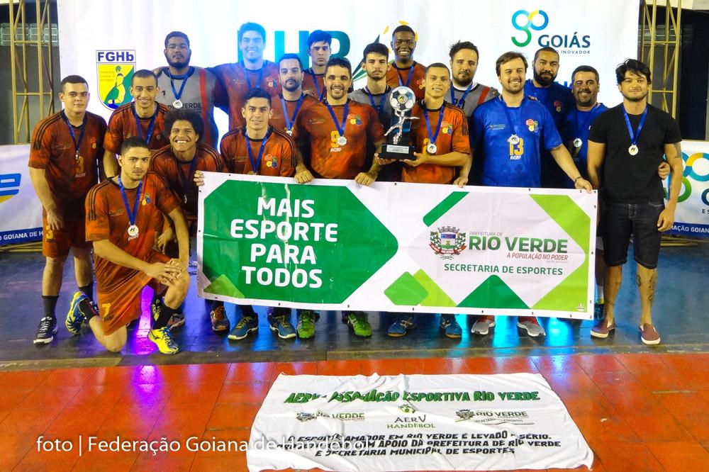 A.E.R.V/Rio Verde (GO), Vice-Campeão Conferência Centro-Oeste. (foto Federação Goiana de Handebol)