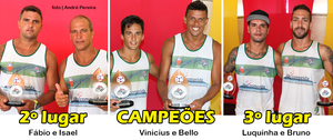 Campeões, Categoria Profissional, Campeonato Paulista de Futevôlei, etapa Ilha Comprida