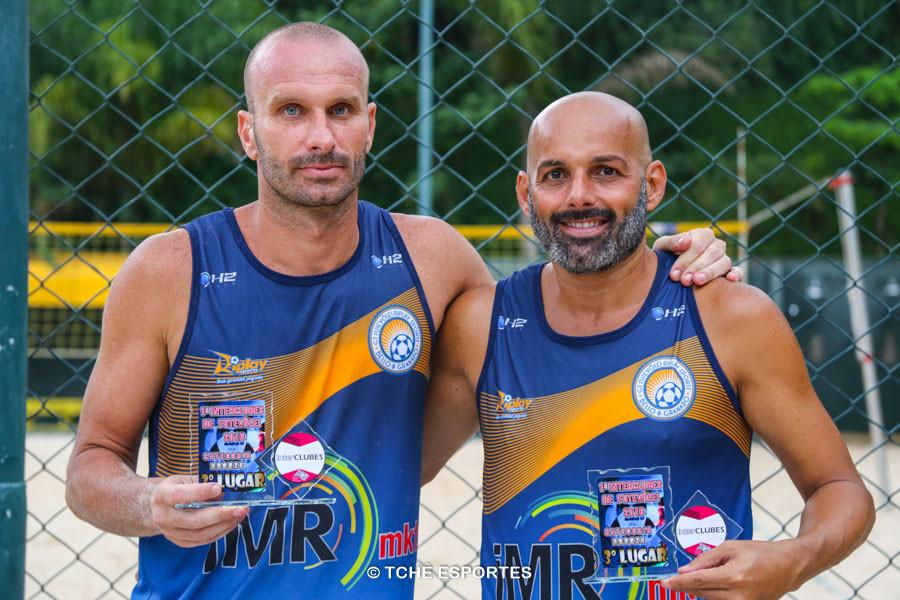 Alemão e Giba. 3º lugar Bronze. (foto Andréa Rodrigues / Tchê Esportes)