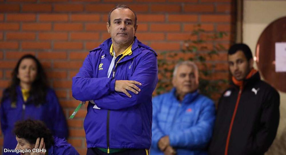 Sérgio Graciano, técnico da seleção brasileira. (foto divulgação CBHb)