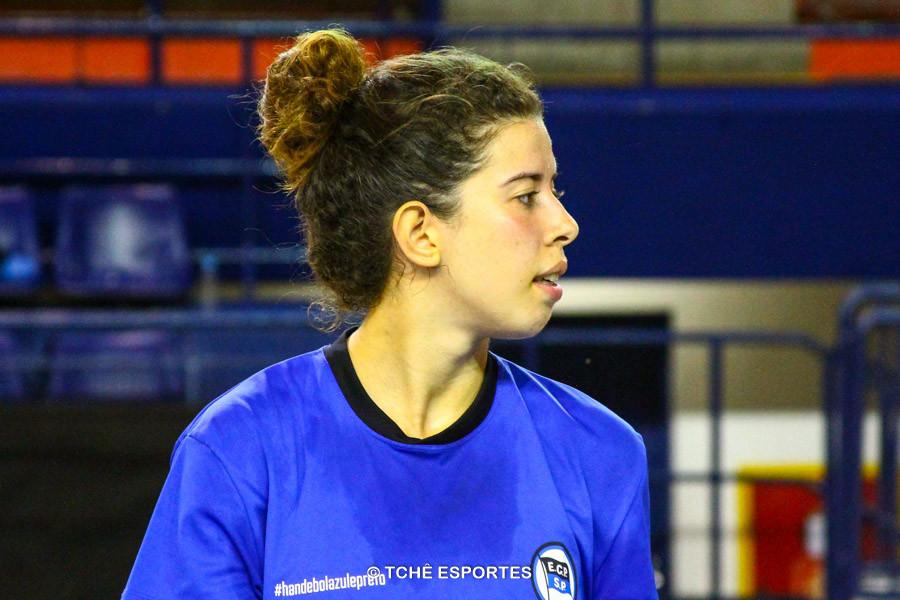 Gabriela Pessoa, EC Pinheiros, artilheira e destaque da partida. (foto arquivo Tchê Esportes)