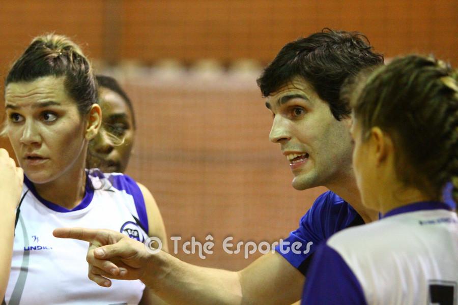 Alex Aprile, técnico do EC Pinheiros. (foto André Pereira / Tchê Esportes)