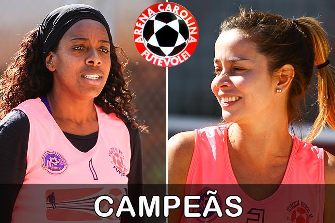 Marina e Claudia, Campeãs da 1ª etapa do Circuito Feminino da Arena Carolina Futevôlei. (foto Fernanda Rodrigues)