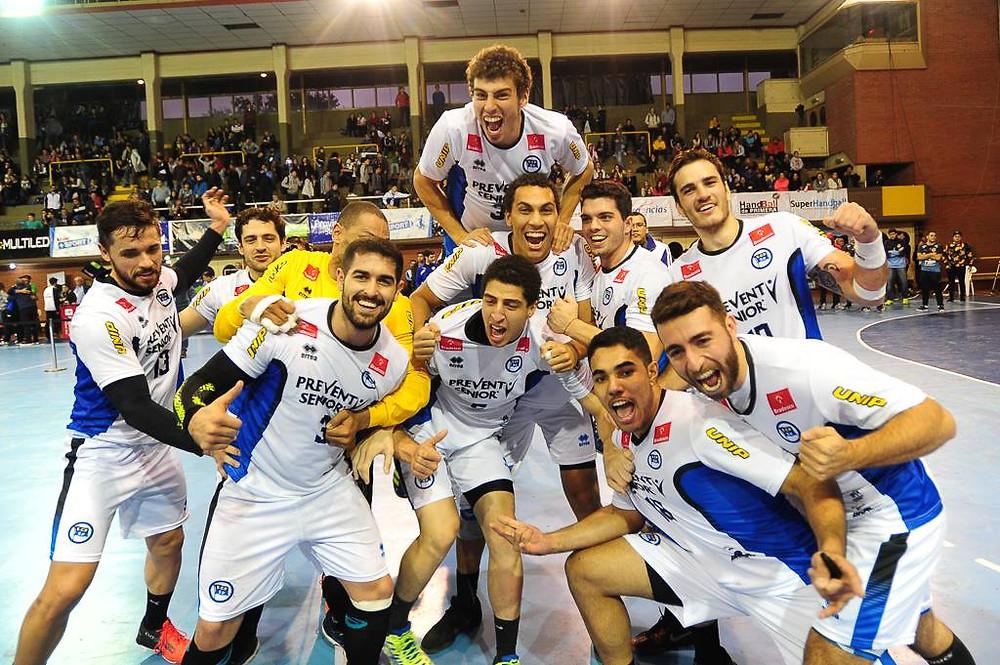 EC Pinheiros, do Brasil, campeão Pan de Clubes 2017. (foto divulgação Femebal)
