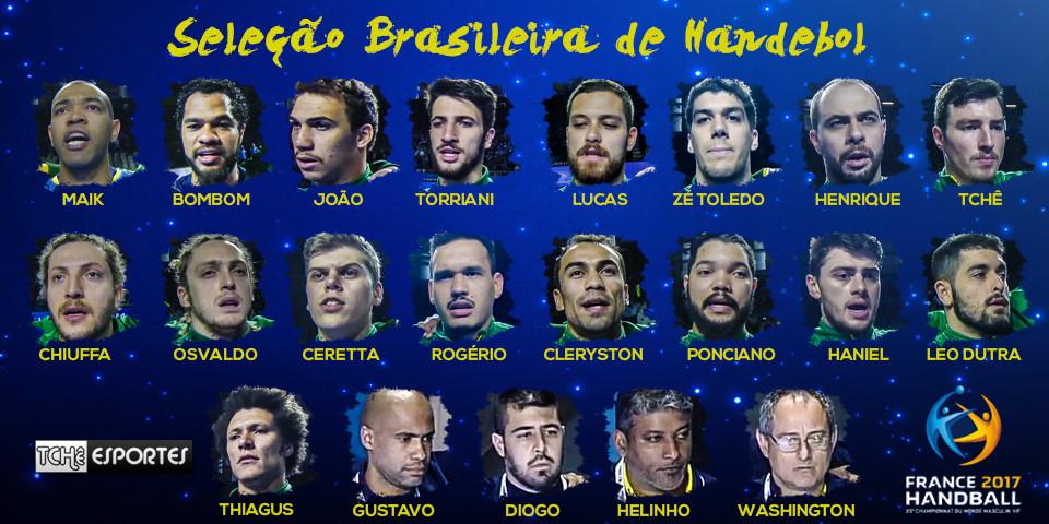 Seleção Brasileira de Handebol Masculino - França 2017. (arte Tchê Esportes))